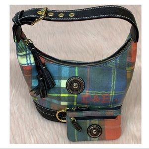 Dooney & Bourke • Plaid Small Hobo & Card Case